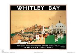 Whitley Bay - Dome - Railway & Travel Poster